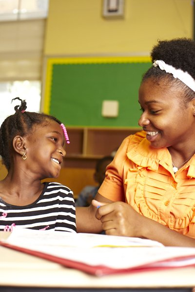 A student in a Read Alliance program funded by the Brooke Astor Fund for Education in The New York Community Trust.